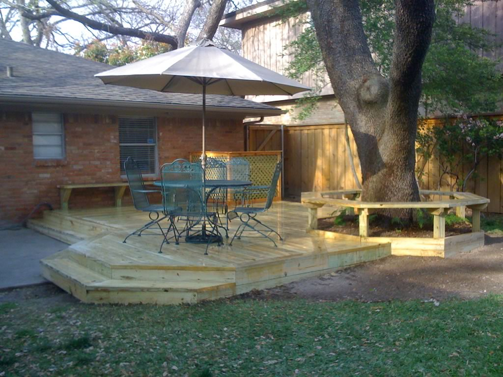 Deck Patio Pressure-Treated Pine Bench