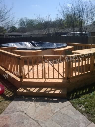 Deck Pool Pressure-Treated Pine Above Ground Gate