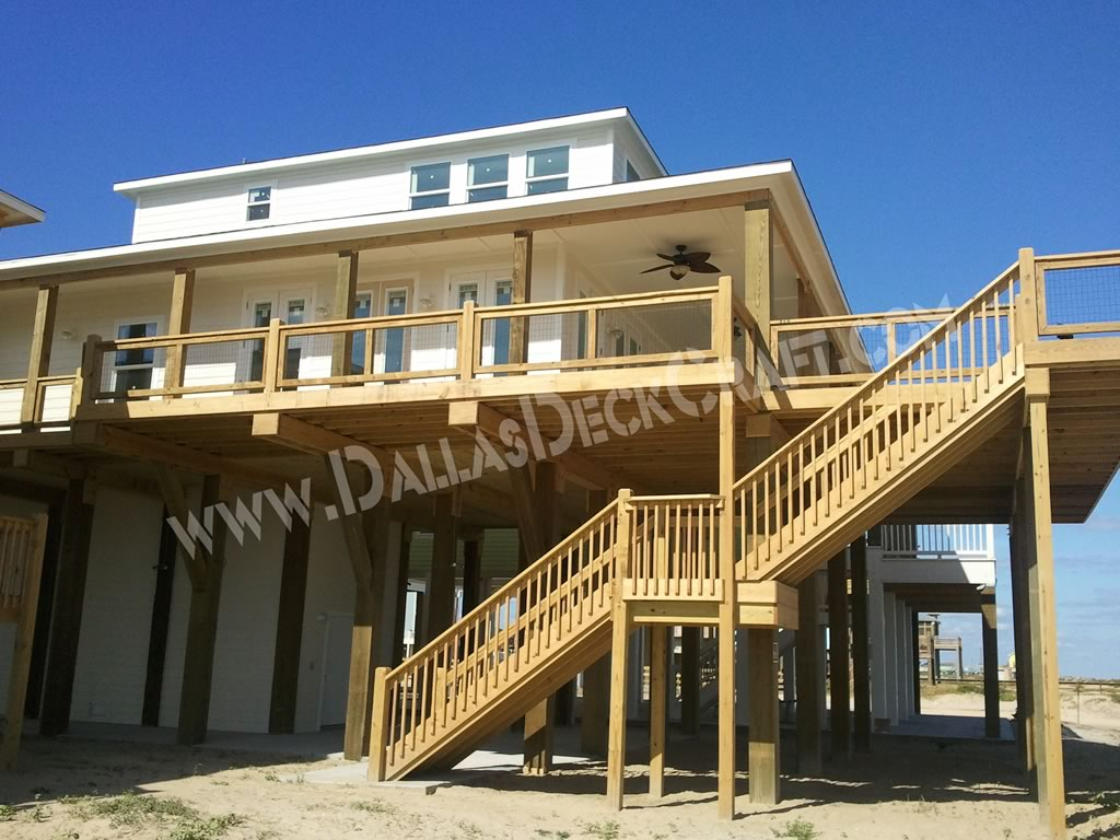 Deck Porch Pressure-Treated Pine Crystal Beach