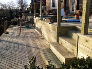 Pressure-Treated Pine Decking around Swimming Pool