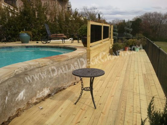 Decks by Material Pressure-Treated Pine