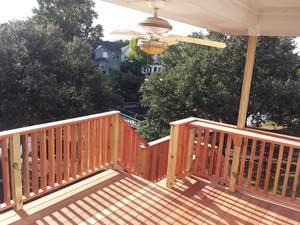 Balcony Deck Made of Cedar