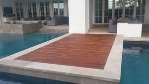 Beautiful and elegant poolside ipe deck