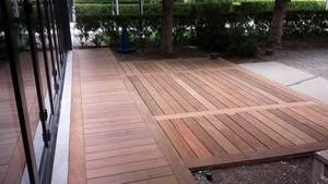 Ipe deck for commercial property